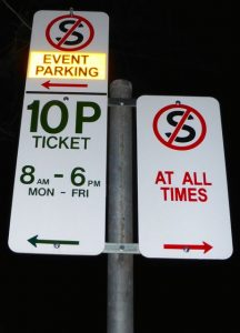 EventSignParking